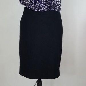 J. Crew Black The Pencil Skirt - size 4
